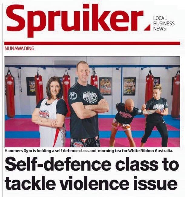 Self Defence at Hammers Gym 1