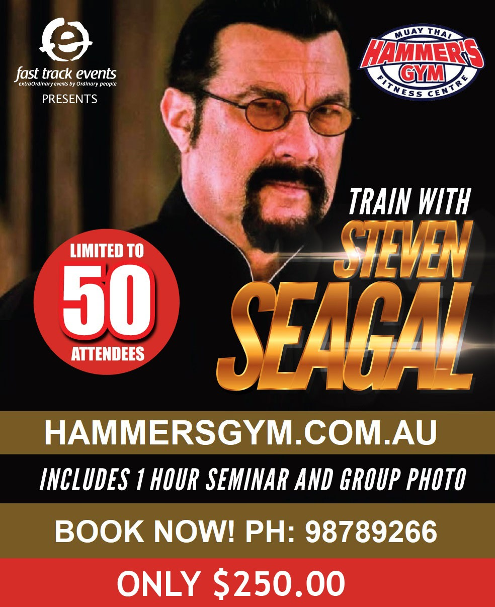 Steven Seagal at Hammers Gym (Only $250.00) 1