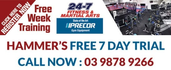 7 Day Free Trial Hammers Gym. Join Now!