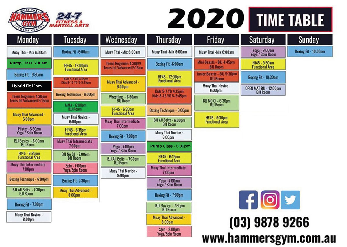 2020 Time Table 1