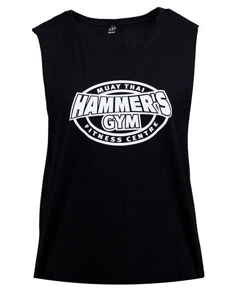 Hammers Gym Muay Thai logo cut off Muscle T Navy & Black 1