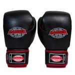 Adult leather Red and Black 16oz gloves 2