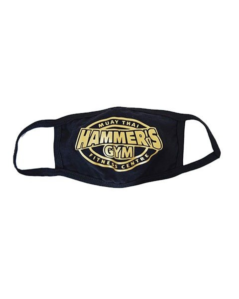 Face Mask with Gold Hammers Gym Logo 1