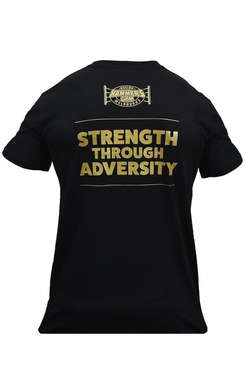 Limited edition 2020 Strength through adversity Black & Gold T's 4