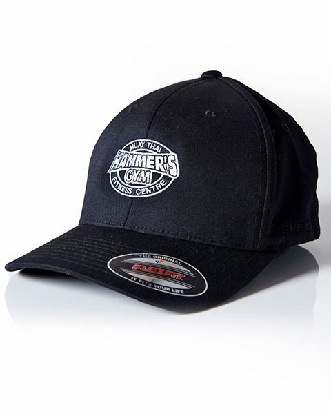 Cap in Black with White logo 1